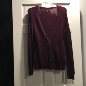 American Eagle Outfitters maroon v cardigan